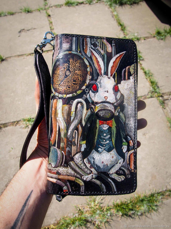Кожаный кошелек клатч стимпанк, Кошельки, Одесса,  Фото №1