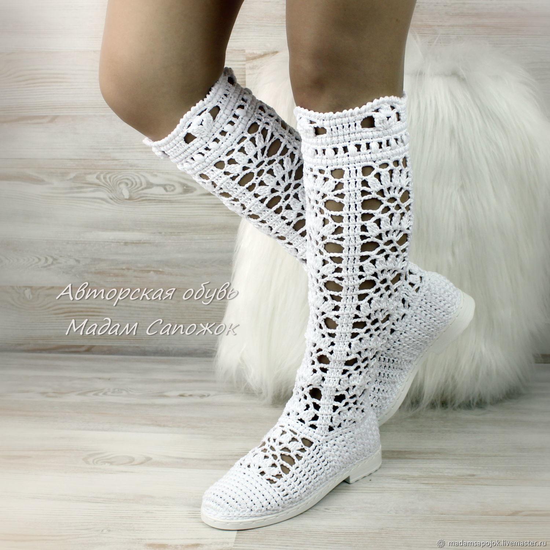 ea7014fa1b Buy Boots-old 'First love' Handmade Shoes handmade. Boots-old 'First love'  knitted. MadameBoots.
