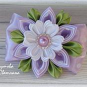Работы для детей, handmade. Livemaster - original item Scrunchie Lilac dreams in the technique of kanzashi. Handmade.