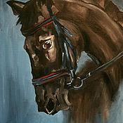 """Картины и панно ручной работы. Ярмарка Мастеров - ручная работа Картина """"Лошадь"""" (холст/масло). Handmade."""