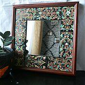 Зеркала ручной работы. Ярмарка Мастеров - ручная работа Настенное зеркало. Handmade.