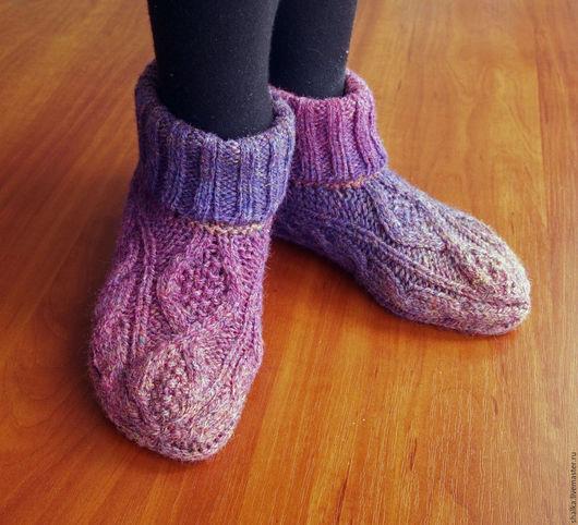 """Носки, Чулки ручной работы. Ярмарка Мастеров - ручная работа. Купить Носочки/ботики """"Фрейя"""". Handmade. Комбинированный, носки теплые"""