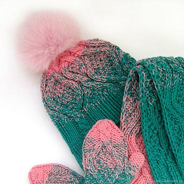 Works for children handmade. Livemaster - original item Winter set for girls