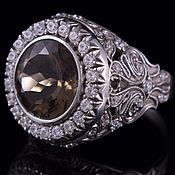 Украшения handmade. Livemaster - original item Silver ring with rauchtopaz. Handmade.