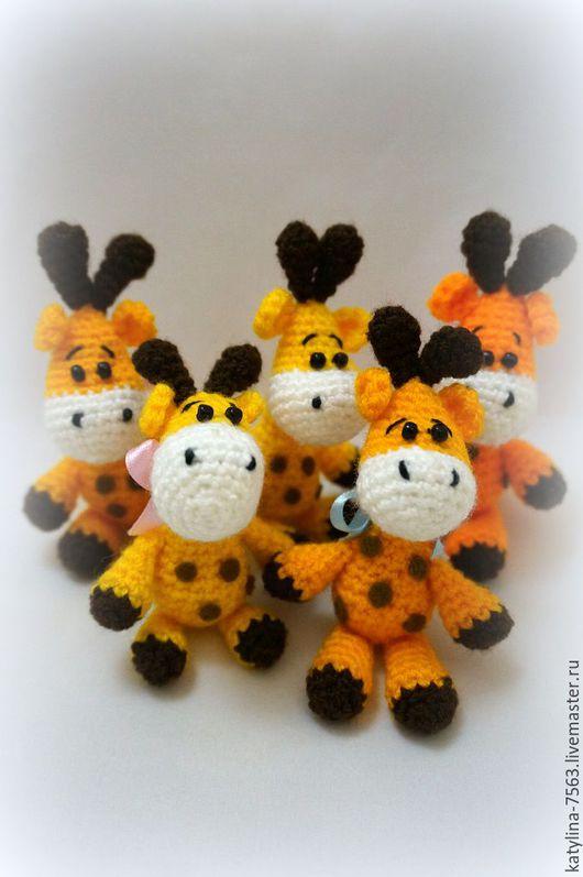 """Игрушки животные, ручной работы. Ярмарка Мастеров - ручная работа. Купить """"Жирафик"""". Handmade. Желтый, жирафы, жираф вязаный, оптом"""