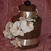 Подарки к праздникам ручной работы. Ярмарка Мастеров - ручная работа Торт из полотенец Орхидея. Handmade.