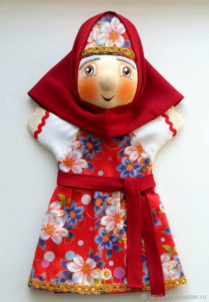 Кукольный театр ручной работы. Ярмарка Мастеров - ручная работа. Купить Бабулька сказительница - кукла на руку. Handmade. Кукольный театр