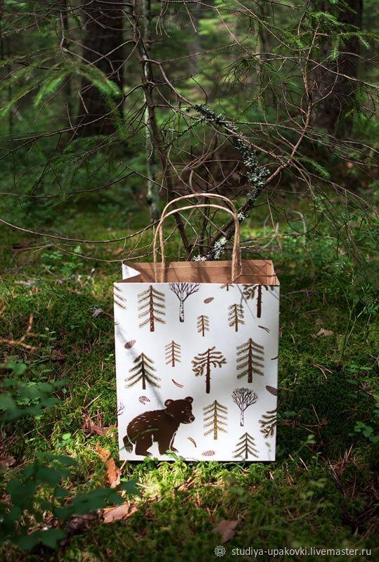 Крафт-пакет Мишка в лесу, Упаковка, Санкт-Петербург,  Фото №1