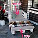 Мебель ручной работы. Ярмарка Мастеров - ручная работа. Купить Мягкий пуфик  из паллет на колесиках размером 80х67см. Handmade. Белый