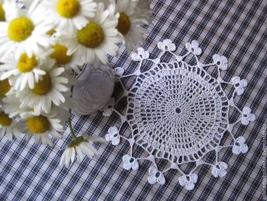 Текстиль, ковры ручной работы. Ярмарка Мастеров - ручная работа. Купить Салфетка № 143. Handmade. Белый, винтажная салфетка