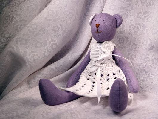 Куклы Тильды ручной работы. Ярмарка Мастеров - ручная работа. Купить Тильда мишка лавандовая. Handmade. Мишка, сиреневый