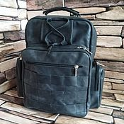 Сумки и аксессуары handmade. Livemaster - original item Backpacks: Men`s leather backpack CONSTANTINE PLUS black. Handmade.