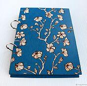 "Канцелярские товары handmade. Livemaster - original item Notepad wood cover A5 ""Sakura"". Handmade."