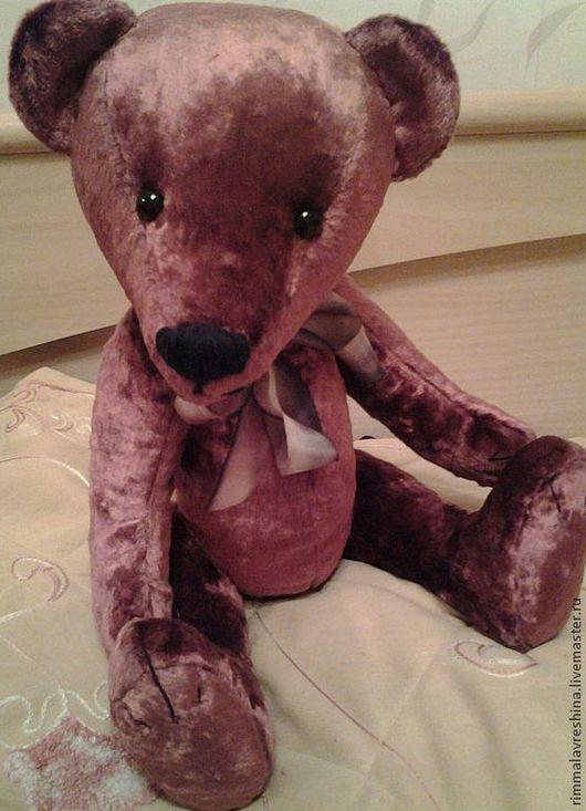 Мишки Тедди ручной работы. Ярмарка Мастеров - ручная работа. Купить мишка тедди Лёня. Handmade. Бордовый