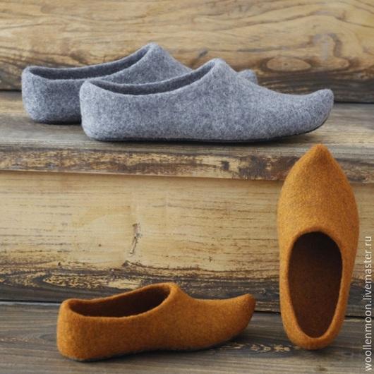 Детская обувь ручной работы. Ярмарка Мастеров - ручная работа. Купить Войлочные тапочки Аладдина (детские). Handmade. Разноцветный