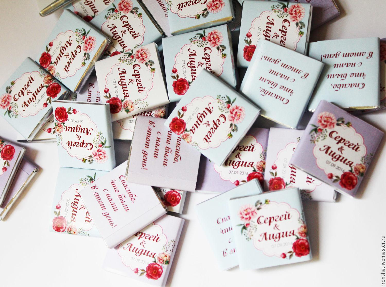 Шоколад подарки гостям 53
