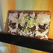 Для дома и интерьера ручной работы. Ярмарка Мастеров - ручная работа Ключница из дерева Надежные птицы. Handmade.