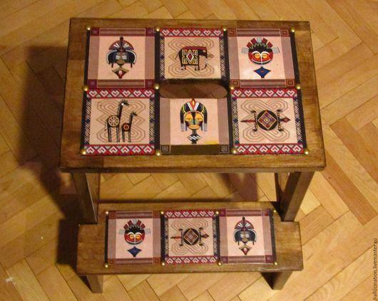 Ярмарка мастеров, ручная работа, стремянка, табурет-стремянка, мебель ручной работы из дерева, ступенька, лесенка.