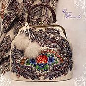 Сумки и аксессуары handmade. Livemaster - original item Bag Russian winter felted wool scarf. Handmade.
