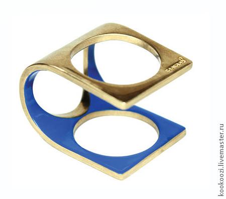 """Кольца ручной работы. Ярмарка Мастеров - ручная работа. Купить Кольцо """"TRUBODUR2"""". Handmade. Женщина, подарок, латунь с серебрением"""