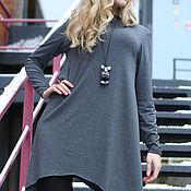 Одежда ручной работы. Ярмарка Мастеров - ручная работа Платье с хвостами Grey Color. Handmade.