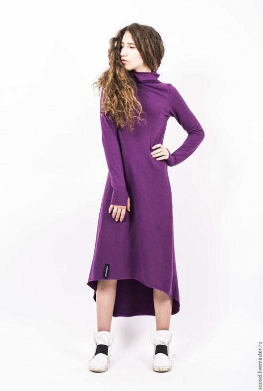 """Платья ручной работы. Ярмарка Мастеров - ручная работа. Купить Платье """"Фуксия"""". Handmade. Фуксия, теплое платье, мода"""