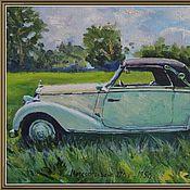 Картины и панно ручной работы. Ярмарка Мастеров - ручная работа Ретро автомобиль Mercedes-Benz 170s 1950г.. Handmade.