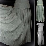 Одежда handmade. Livemaster - original item Associated linen MAXI Skirt, pleated at the yoke. Handmade.