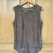Одежда handmade. Livemaster - original item Tank top made of suede. Handmade.