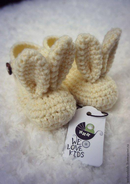 Для новорожденных, ручной работы. Ярмарка Мастеров - ручная работа. Купить Bunny ears от We Love Kids. Handmade. Пинетки