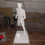 Дизайн и реклама handmade. Livemaster - original item sculpture of football Player. Handmade.