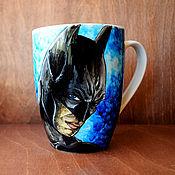 """Посуда ручной работы. Ярмарка Мастеров - ручная работа Кружка """"Бэтмен"""" (0771). Handmade."""