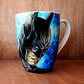 """Посуда ручной работы. Ярмарка Мастеров - ручная работа Кружка """"Бэтмен"""". Handmade."""