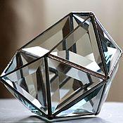 Свадебный салон handmade. Livemaster - original item Jewelry box for rings. Glass casket. The Floriana. Wedding box. Handmade.