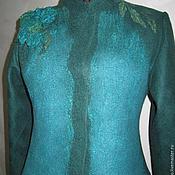"""Одежда ручной работы. Ярмарка Мастеров - ручная работа Валяный жакет """"Лондон""""  изумруд. Handmade."""