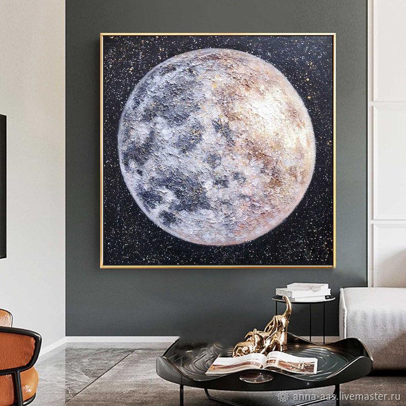 Картины маслом на холсте Большая луна, Картины, Санкт-Петербург,  Фото №1