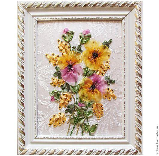 Картины цветов ручной работы. Ярмарка Мастеров - ручная работа. Купить Нежный букет. Handmade. Белый, букет цветов, цветы