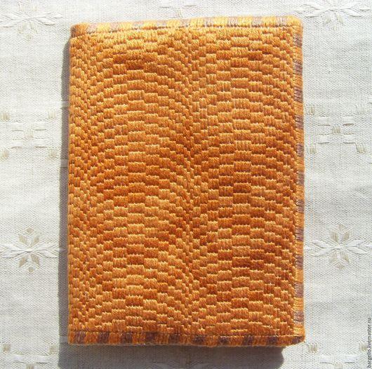 Обложки ручной работы. Ярмарка Мастеров - ручная работа. Купить Обложка на паспорт  с вышивкой барджелло Игра в имитацию. Handmade. Вышивка