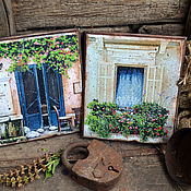 """Картины и панно ручной работы. Ярмарка Мастеров - ручная работа Настенные панно""""Старая улочка Монпелье"""",в стиле Прованс. Handmade."""