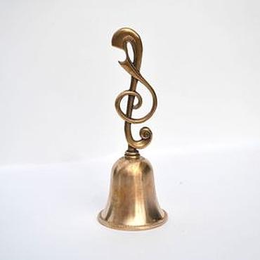Для дома и интерьера ручной работы. Ярмарка Мастеров - ручная работа Колокольчик Скрипичный ключ. Handmade.