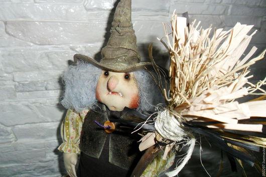 Коллекционные куклы ручной работы. Ярмарка Мастеров - ручная работа. Купить Кукла. Ведьмочка. Handmade. Коричневый, лён