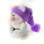 Мягкие игрушки ручной работы. Ярмарка Мастеров - ручная работа Игрушки: котик белый пушистый шерстяной в шапке. Handmade.