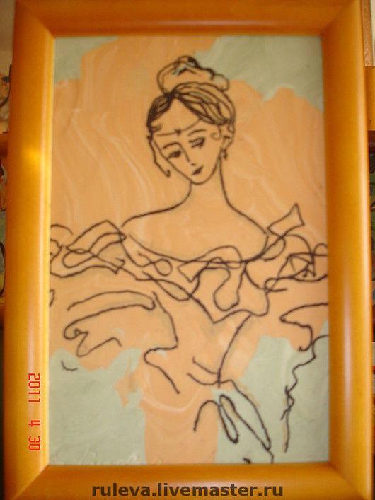 """Люди, ручной работы. Ярмарка Мастеров - ручная работа. Купить картина """"женщина"""". Handmade. Оригинальный подарок, подарок девушке"""
