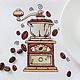 Салфетка для завтрака с вышивкой `Утренний кофе` `Шпулькин дом` мастерская вышивки