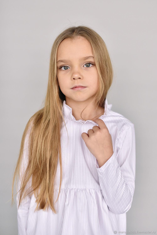 Блуза из хлопка в тонкую полоску