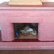 Для дома и интерьера ручной работы. Ярмарка Мастеров - ручная работа Розовая лента - изразцовый камин. Handmade.
