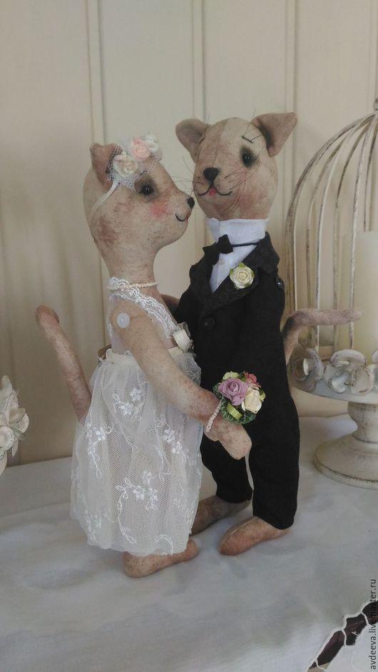 Куклы Тильды ручной работы. Ярмарка Мастеров - ручная работа. Купить Свадьба. Handmade. Бежевый, Сделано с душой, лён