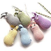Сувениры и подарки handmade. Livemaster - original item Set of Easter bunnies knitted 6 pieces 7 cm. Handmade.