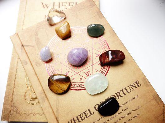 Медитация ручной работы. Ярмарка Мастеров - ручная работа. Купить Большой чакровый набор 9 камней самоцветов. Handmade. Комбинированный