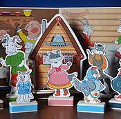 """Мягкие игрушки ручной работы. Ярмарка Мастеров - ручная работа """"Кошкин дом"""", вариант с 4 фонами. Handmade."""